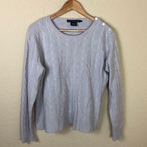Ralph Lauren 💯 cashmere cableknit button sweater